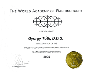 The World Academy of Radiosurgery Certificate