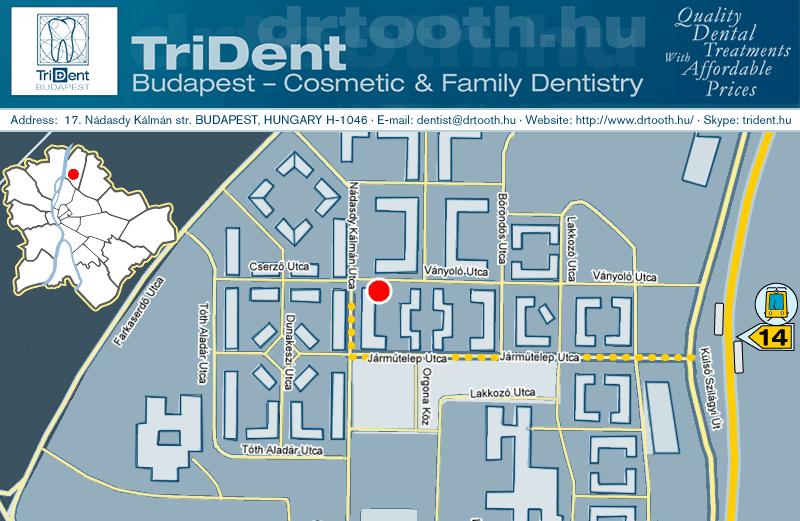 Drtoothhu TriDent Budapest Cosmetic Family Dentistry - Us dentist distribution map